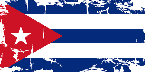 Cuban grunge flag. Vector illustration