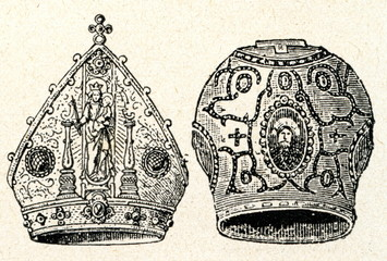 Catholic (left) and orthodox mitres