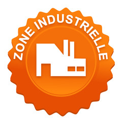 zone industrielle sur bouton web denté orange