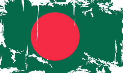 Bangladesh grunge flag. Vector illustration