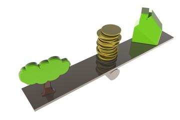 Natuur - bouw - geld