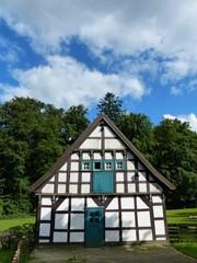 Fachwerkhaus im Heimat-Tierpark Olderdissen bei Bielefeld