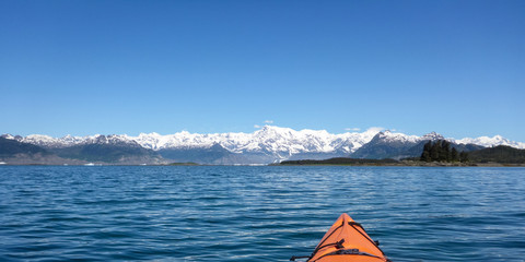 Kayaking Columbia Glacier