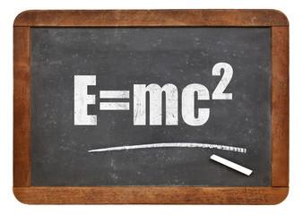 Einstein equation on blackboard