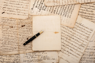 Letters and fountain pen