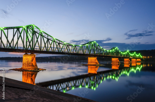 Bridge in Wloclawek by night - 66615534