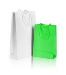 white and green gift bag