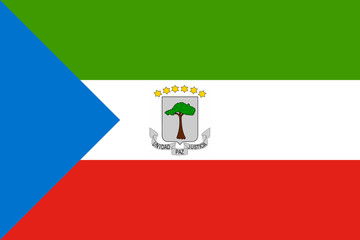 High detailed flag of Equatorial Guinea