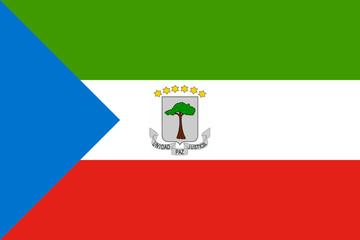 High detailed flag of Equatorial Guinea