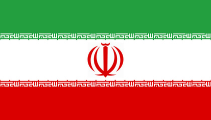 High detailed flag of Iran
