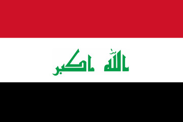 High detailed flag of Iraq