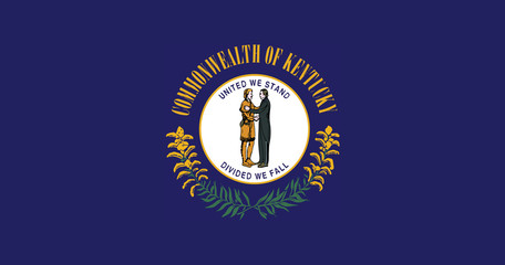 High detailed flag of Kentucky