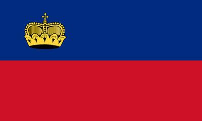 High detailed flag of Liechtenstein