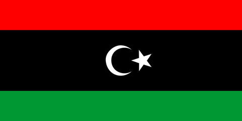 High detailed flag of Libya