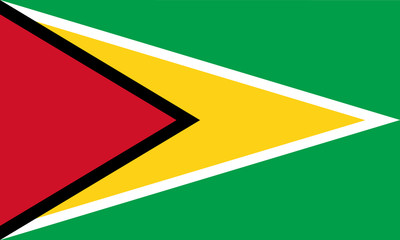 High detailed vector flag of Guyana