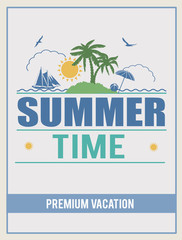 Retro summer time poster