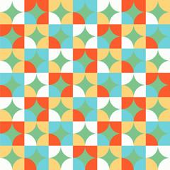 Seamless Colorful Circle Patterns Design