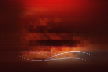 Modern red background with abstract smooth lines
