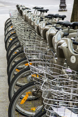Row of Bicycles