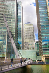 London, Canary wharf Banking aria