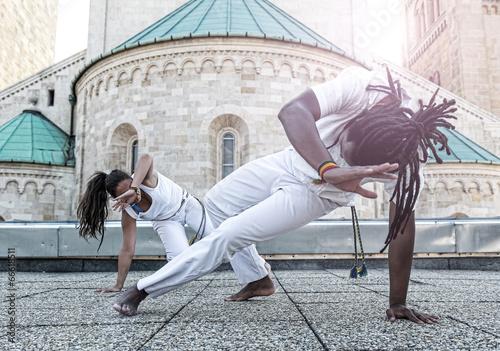 Young pair capoeira partnership ,spectacular sport - 66618511