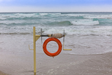lifebuoy on the coast