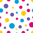 Cotton fabric Polka Dot Seamless colorful background