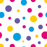 Fototapety Polka Dot Seamless colorful background