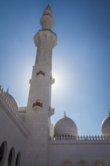 Grand mosque in Abu Dhabi - United Arab Emirates