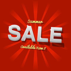 Red Summer Sale Design Template