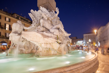 Fountain of the Four Rivers in Piazza Navona