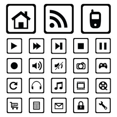 mobile icons.