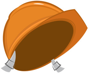 Construction helmet. Vector cartoon
