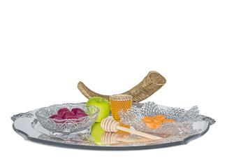 Jewish New year shofar,Rosh Hashana food.Sephardic style.