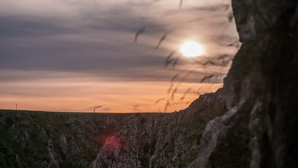 Transylvania Tureni Canyon sunset time lapse