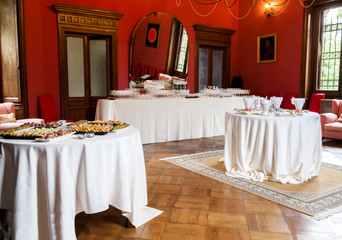 catering buffet Tercesi castle