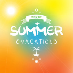 Summer holiday background with text - illustration