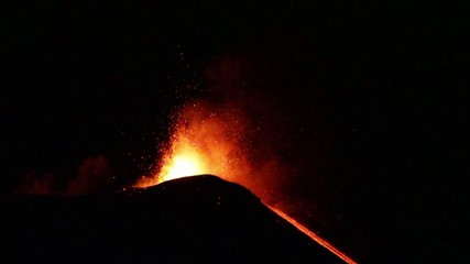 Volcano Etna eruption in 16, June 2014 - Catania, Sicily