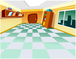 cartoon interior room
