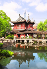 Pavilion in Yu Yuan Gardens, Shanghai, China