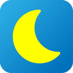 Weather web icon with moon
