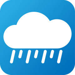Weather web icon with cloud and rain