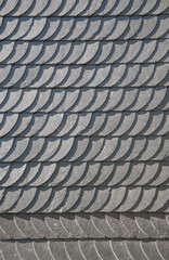 Slate shingled wall texture