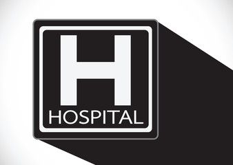 Hospital icon illustration