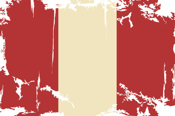 Peruvian grunge flag. Vector illustration