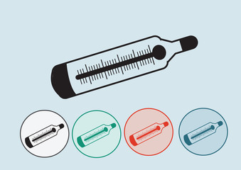 Medical thermometer web icon