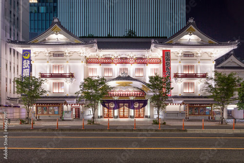Fotobehang Tokyo Kabukiza in Ginza Tokyo