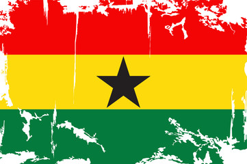 Ghana grunge flag. Vector illustration