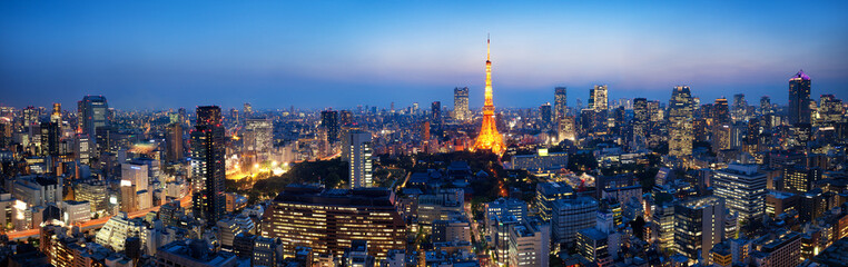 Tokyo Panorama bei Nacht