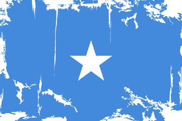 Somalia grunge flag. Vector illustration